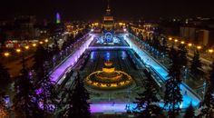 Ice rink lighting at All-Russia Exhibition Center in Moscow is managed with help of THRONE