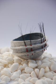 I am a maker of felt. For close to 35 years I have been captivated by the hands-on process of transforming wool fibres into a cloth to call my own. Felt-making. Bokashi, Paper Bowls, Felt Embroidery, Wool Art, Nuno Felting, Handmade Felt, Felt Art, Fabric Art, Felt Crafts