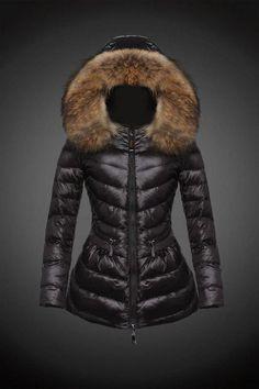 2015 Moncler Y 16 Fur Hooded down jacket for women in black  Moncler -    Moncler Online Shop Provide Moncler Jacket 0303d52d0184e
