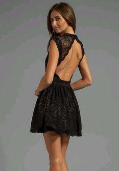 robe dentelle noir, dos nu black lace dress, open back: Pretty Dresses, Sexy Dresses, Beautiful Dresses, Short Dresses, Fashion Dresses, Backless Dresses, Short Lace Dress, Dress Lace, Revolve Clothing