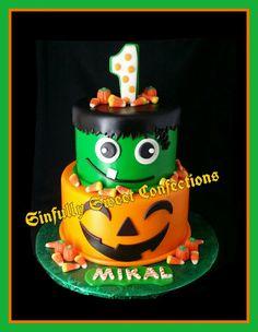 Halloween Theme Birthday Cake