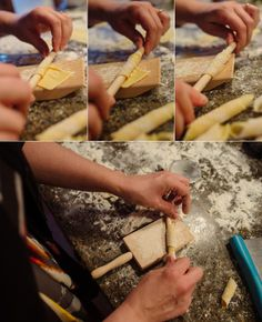 Rolling the garganelli for timpano