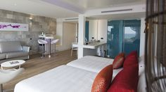PORCELANOSA Group Projects: Hard Rock Hotel Ibiza, Spain Porcelanosa Bathrooms Interior Design in #hotels