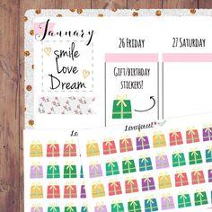 gift planner sticker, planner sticker gift, present sticker, birthday sticker, personal planner, happy planner sticker, erin condren, D0035