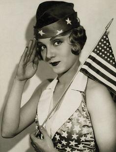 Leila Hyams salutes America