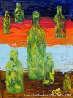 Untitled Abstract Still Life Oil on Canvas (2013) 30 x 40 cm www.gregmasonburns.com Prints - http://fineartamerica.com/featured/untitled-abstract-still-life-greg-mason-burns.html