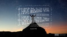 Isaiah 49:8 (ESV) - Biblia.com