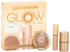 I love this little kit. The lipgloss smells like cake batter! Pur Minerals Glow All Year