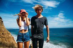 brandy melville, couple, goals, love, ocean, sand, sky, sun, travel, alexis ren, jay alvarrez, beach