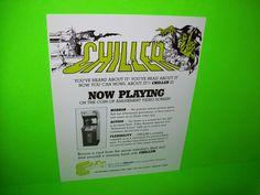 CHILLER By EXIDY 1986 ORIGINAL NOS RARE VIDEO ARCADE GAME PROMO SALES FLYER #videogameflyer #videogame #arcadeflyer #arcadegame #exidychiller #arcaderifle