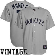 Majestic Don Mattingly New York Yankees Cooperstown Fan Replica Jersey Gray! ea0b4fad2