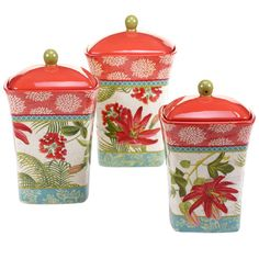 Found it at Wayfair - Tropics 3-Piece Canister Set