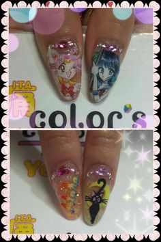 セーラームーン(Sailor Moon) :Character nail art