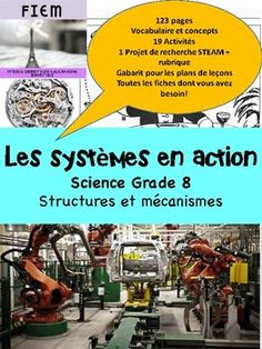 "French Immersion, Grade 8 Science 123 READY-MADE slides to support your work with your science unit about the systems in action. Check out the PREVIEW FILE. EVERYTHING YOU NEED! and SAVE YOURSELF HOURS OF WORK!!!!!! Integrate this resource in your science unit about ""Les systèmes en action"" with accurate information at the reading level of your French Immersion, Action, Science, Reading Levels, The Unit, Education, Check, Life Hacks, Template"