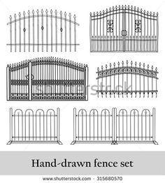 Find railing designs stock images in HD and millions of other royalty-free stock photos, illustrations and vectors in the Shutterstock collection. Thousands of new, high-quality pictures added every day. Wrought Iron Driveway Gates, Garden Railings, Stock Illustrations, Railing Design, Modern House Design, Vectors, Royalty Free Stock Photos, Cartoons, Yard