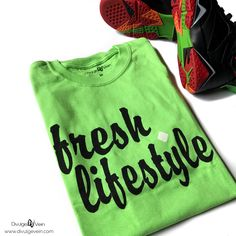 Be Bold, Be Different ..... Express Your Style! Our 'Fresh.Lifestyle' Tee in Electric Green is only available at: www.DivulgeVein.com