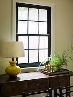 Lauren Liess Lauren Liess, Window Detail, Black Windows, Minimalist Decor, Beautiful Space, Simple Living, Ceiling Lights, Cleaning, Doors