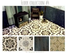 Floor collection #4 at Sims4 Luxury via Sims 4 Updates