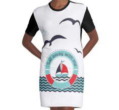 'Sail away with me ' Sleeveless Top by Lövei Éva Sail Away, Wetsuit, Sailing, Shirt Designs, T Shirt, Boys, Fabric, Swimwear, Red
