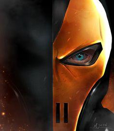 Deathstroke by kmjoen Dc Deathstroke, Deathstroke The Terminator, Deadshot, Vigilante, Life Comics, Black Manta, Comic Villains, Batman The Dark Knight, Dc Characters