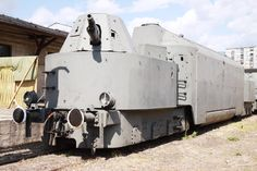This armoured train, intended to keep Soviet VIPs safe during WWII, is now retired in the Railway Museum in Warsaw.