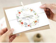 invitaciones boda flores en acuarela - Buscar con Google