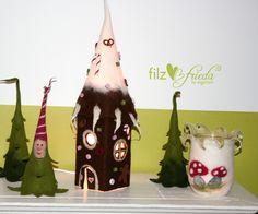 ... märchenhafte Knusperhaus-Leuchte handgefilzt von filzfrieda - handgefilzte fröhlichmacher! auf DaWanda.com