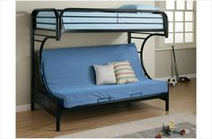 The Simple Stores Twin Over Full Futon Bunk Bed
