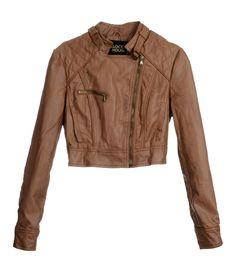 Jaqueta de couro caramelo - C - $149