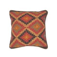 Add an exquisite splash of color and kilim-inspired pattern to your décor with this hand woven wool and jute pillow. With just enough pizazz to liven up your living room without going overboard, toss o...  Find the Southwest Wool & Jute Pillow, as seen in the Desert Oasis Collection at http://dotandbo.com/collections/weekender-desert-oasis?utm_source=pinterest&utm_medium=organic&db_sku=JPR0088
