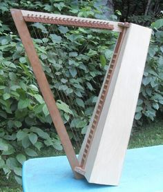 Homemade celtic harp