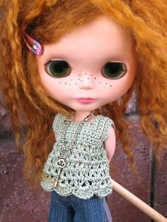 Blythe square neck babydoll top crochet pattern