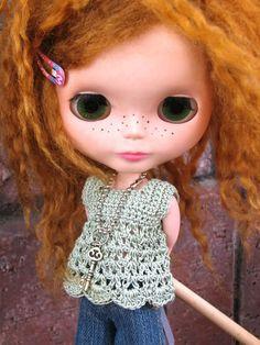 Blythe square neck babydoll top crochet par mytreasuredheirlooms