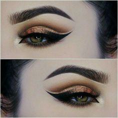 Gorgeous Glittery Double Cut Crease by Paulina!! Love This Look!! ♡♥♡♥♡♥  #makeup #beauty #EyeMakeup