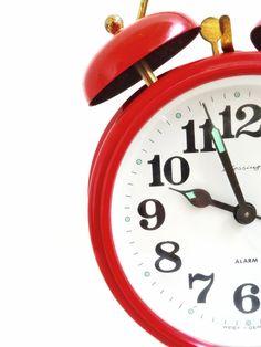 Vintage red alarm clock, stephmelart