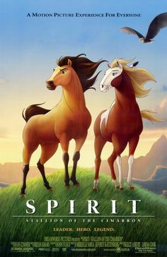"Animators studied real Kiger Mustang horses to bring alive the truly memorable ""Spirit: Stallion of the Cimarron"" in a 2002 American animated western drama film that was produced by DreamWorks Animation and released by DreamWorks Pictures. The horse characters, Spirit and Rain, deserve a top slot in equine filmography!"