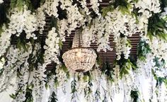 Wisteria / chandelier garden exterior ceiling. It is simply amazingly beautiful and full of fairytales.