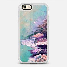 WINTER DREAMLAND 2 - Chic Pastel Turquoise Aqua Blue Purple Brown Maroon Coastal…