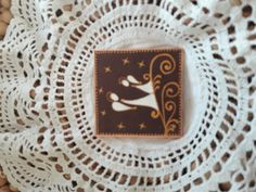 Kasírozott papír alapra festett Angyalok