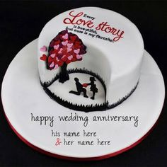 happy wedding anniversary card with name images free credit. happy wedding anniversary wishes online with couple name pictures free. online wishing happy wedding anniversary card wife. happy wedding anniversary wishes card Wedding Anniversary Cake Image, Anniversary Cake Pictures, Marriage Anniversary Cake, Anniversary Cake Designs, Happy Wedding Anniversary Wishes, Happy Anniversary Cakes, 9th Anniversary, Cake Name Edit, Cupcakes Cool