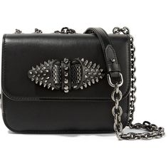Christian Louboutin Sweet Charity embellished leather shoulder bag (9.410 DKK) ❤ liked on Polyvore featuring bags, handbags, shoulder bags, louboutin, black, leather crossbody handbags, cross-body handbag, leather crossbody purse, cross body cell phone purse and cell phone shoulder bag