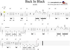 Back In Black - ACDC - guitar tab