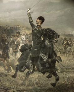 French officer of horse artillery, Imperial guard. Edouard Detaille (1848-1912)