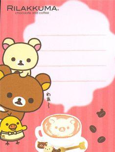 Rilakkuma bear with coffee mini Memo Pad by San-X 4