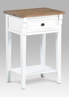 Stoly | Noční stolky | Autronic noční stolek ND-519 WT Bílá | Nabytek-Maca.cz Nightstand, Retro, Table, Furniture, Home Decor, Decoration Home, Room Decor, Night Stand, Tables