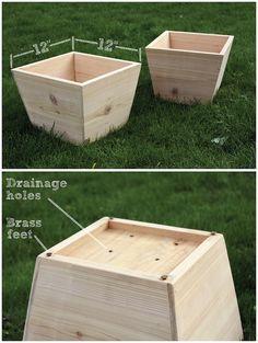 Handmade cedar planters | by William Dohman