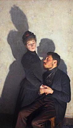 Émile Friant, Casting shadows 1891 on ArtStack #emile-friant #art
