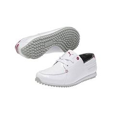 PUMA Womens PG Captain WNS Golf ShoeWhiteCabaretGrey95 M US -- Read more reviews of the product by visiting the link on the image.(This is an Amazon affiliate link and I receive a commission for the sales)
