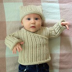 Crochet this gorgeous knit-look pullover for your little one! Looks great on both boys and girls.