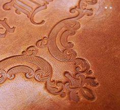 deboss on leather